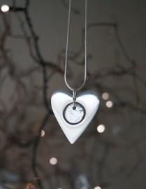Hjärta m diamant